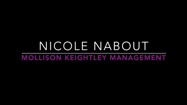 Showreel for Nicole Nabout