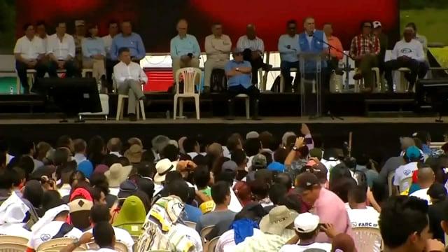 Pazcificadores en la entrega de armas de las FARC-EP