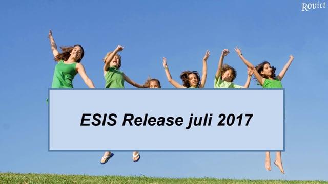 ESIS Release juli 2017