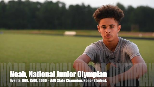 Noah Gipson, National Junior Olympian, Blue Lightning Track Club