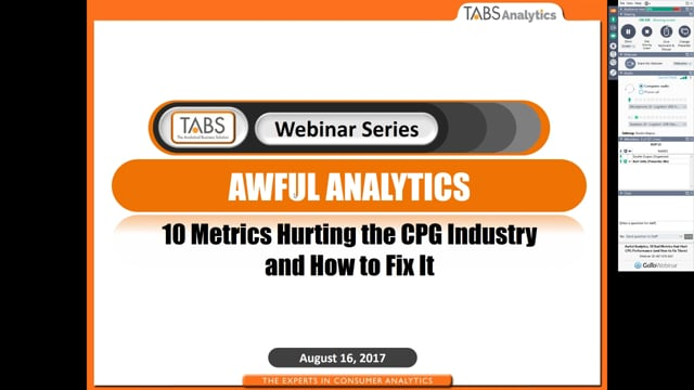 Awful Analytics, 10 Bad Metrics that Hurt CPG Performance - and How to Fix Them (08/16/2017)