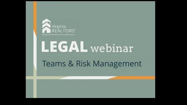 Teams & Risk Management