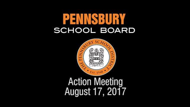 Pennsbury School Board Meeting For August 17, 2017