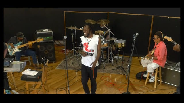 """Randy Valentine with the Soul Syndicate """"Champion"""" rehearsal"""
