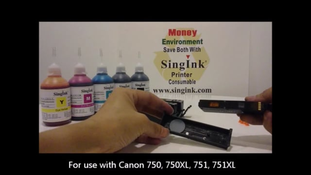 Refill video compatible with Canon 750, 751, 770, 771