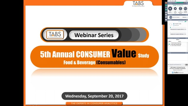 TABS 5th Annual Consumer Value Study (09/20/2017)