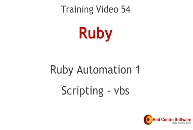 54. Ruby Automation 1 - Scripting - vbs