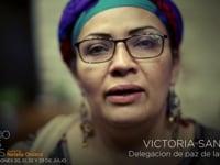Victoria Sandino, a former FARC combatant. FARC peace delegation