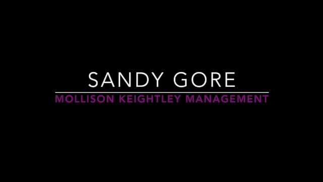 Showreel for Sandy Gore