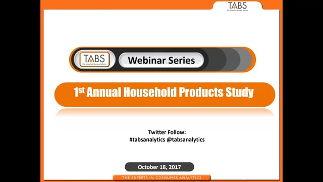 TABS 1st Annual Household Care Study (10/18/2017)