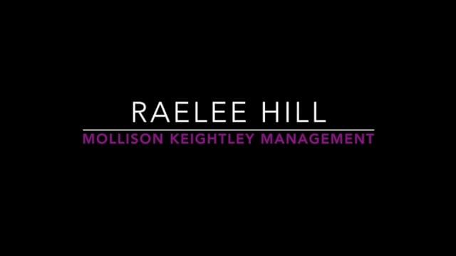 Showreel for Raelee Hill