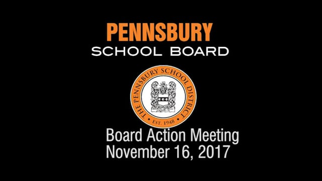 Pennsbury School Board Meeting For November 16, 2017