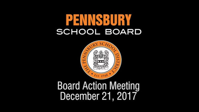 Pennsbury School Board Meeting For December 21, 2017