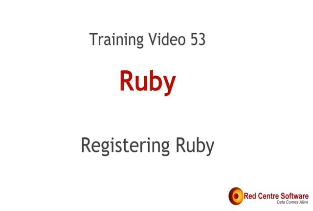 53. Registering Ruby