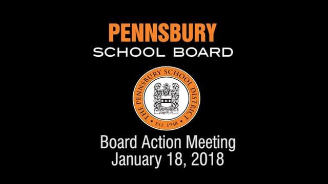 Pennsbury School Board Meeting for January 18, 2018