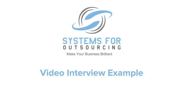 Video Interview Example (shared)