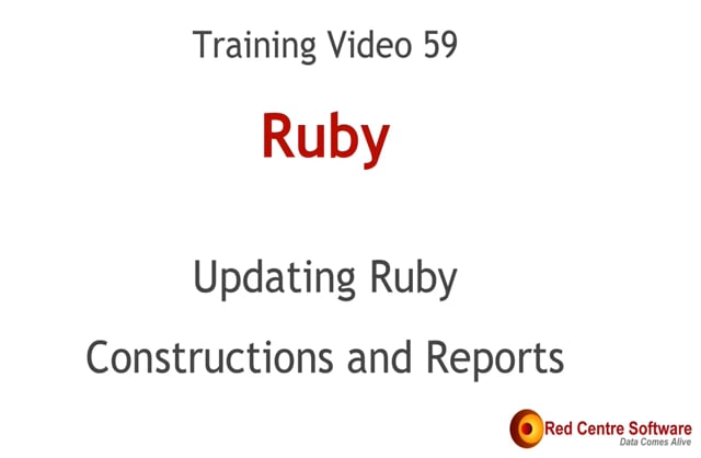 59. Updating Ruby Constructions & Reports