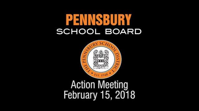 Pennsbury School Board Meeting for February 15, 2018