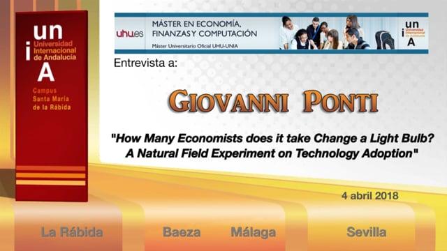 Entrevista a Giovanni Ponti (Universidad de Alicante)