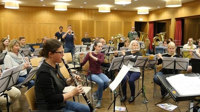 Stadtharmonie Amriswil vor dem Musicalissimo
