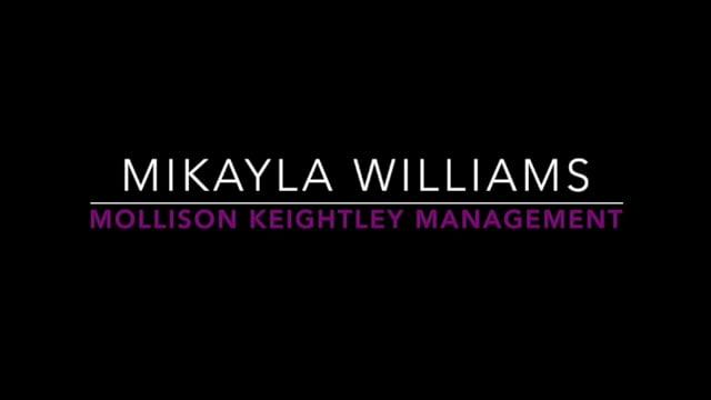 Showreel for Mikayla Williams