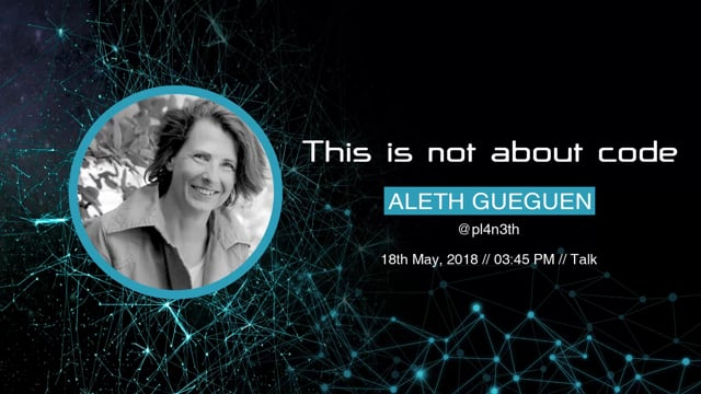 Aleth Gueguen - This is not about code