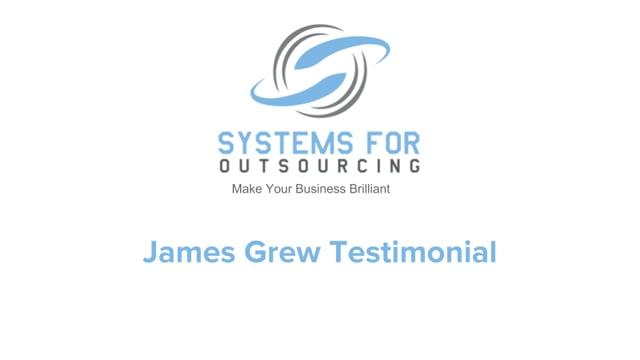 James Grew SFO Program Testimonial