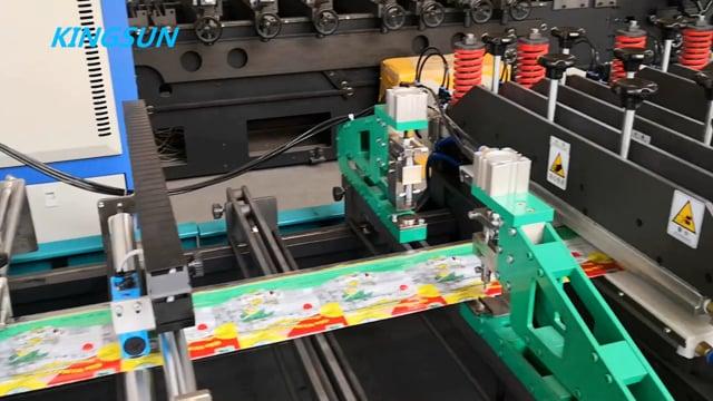 WKZD-600HK model self stand zipper bag three side seal plastic bag making machine