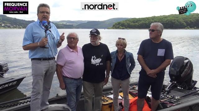 DECIZE FAIT SA TELE avec FREQUENCE MORVAN et NORDNET au lac de PANNECIERE au Festival de pêche aux Leurres