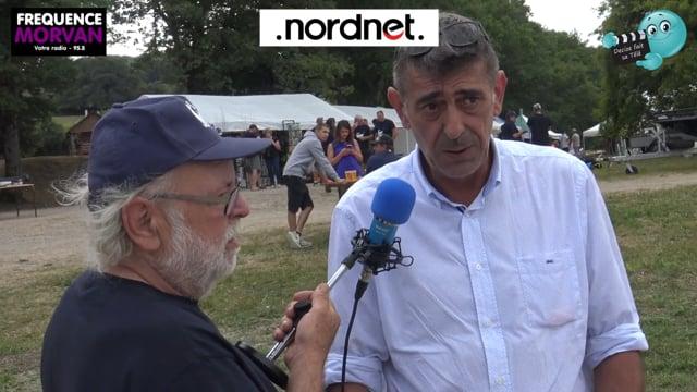 DECIZE FAIT SA TELE AVEC RADIO MORVAN A PANNECIERE AU FESTIVAL DE LA PECHE AUX LEURRES INTERVIEW DU DEPUTE PATRICE PERROT