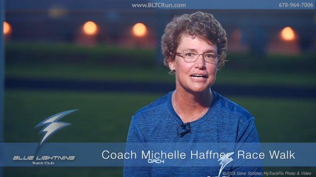 Coach Michelle Haffner, Race Walk Coach