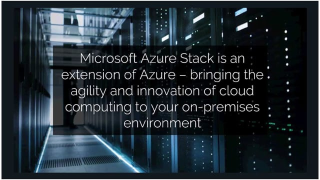 Get Control of your Workloads in Azure Stack with Evops