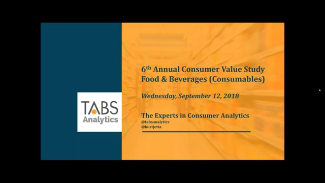 TABS 6th Annual Food & Beverage Consumables Study (09/12/2018)