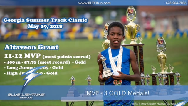 Altaveon Grant, 2-Time National Junior Olympian and Champion