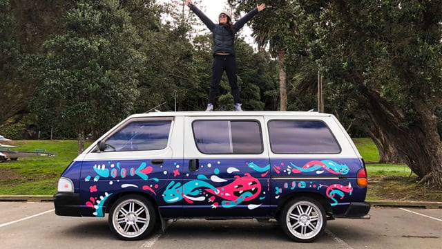 Hand Painting Maristela the Van