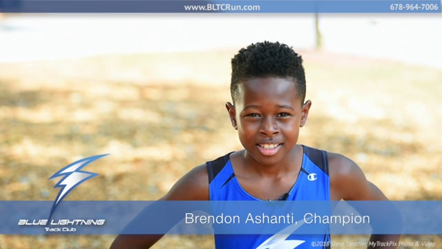 Brendon Ashanti, Champion - Blue Lightning Track Club