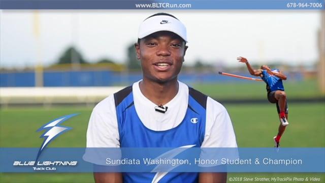 Sundiata Washington, National Junior Olympian, All-American High, Honor Student