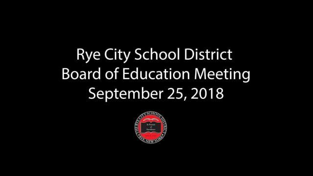 RCSD BOE 09-25-2018