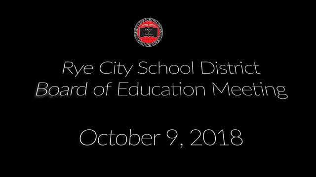 RCSD BOE 10-09-2018