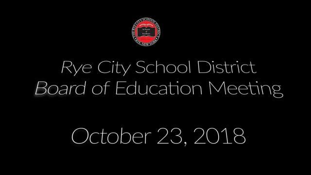RCSD BOE 10-23-2018