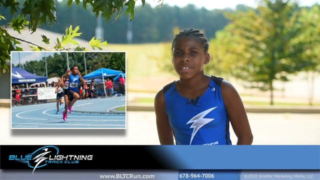 McKenzie Burnett, Sprinter, Blue Lightning Track Club