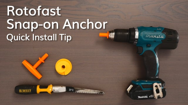 Rotofast Snap-on Anchor Quick Install Tip