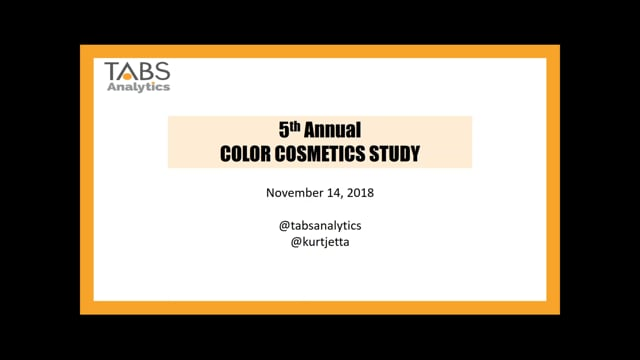 TABS 5th Annual Color Cosmetics Study (11/14/2018)