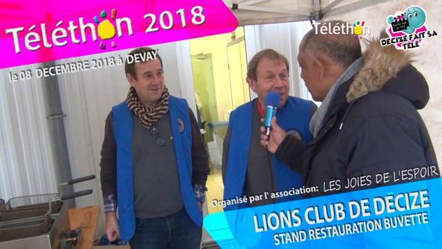 DECIZE FAIT SA TELE AU TELETHON 2018 STAND RESTAURATION BUVETTE AVEC LE LIONS CLUB INTERNATIONAL DE DECIZE