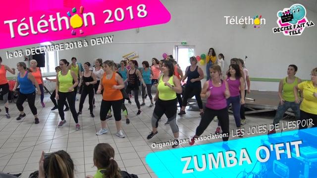 DECIZE FAIT SA TELE AU TELETHON 2018 ZUMBA O'FIT