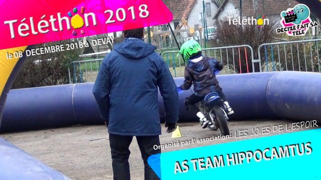 DECIZE FAIT SA TELE AU TELETHON 2018 AVEC L'AS TEAM HIPPOCAMTUS