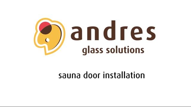 Andres sauna door installation