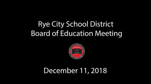 RCSD BOE 12-11-2018