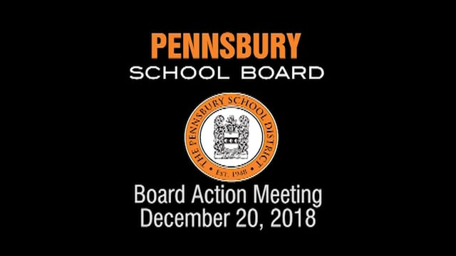 Pennsbury School Board Meeting for December 20, 2018