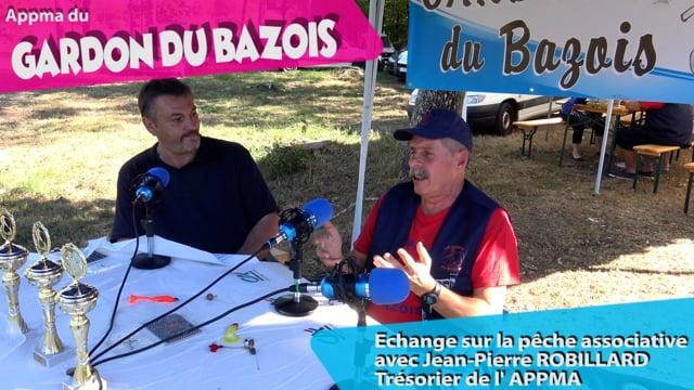 Echange sur la pêche associative avec Jean Pierre Robillard Trésorier de l'APPMA du Gardon du Bazois